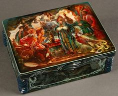 RUSSIAN LACQUER BOX, FEDOSKINO, SIGNED, C. 2002