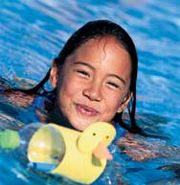Disney FamilyFun magazine article with lots of great ideas for a pool birthday party  (incl.  decorating t-shirt as a swim cover)