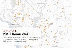 2013 Homicides in D.C. and Prince George's County