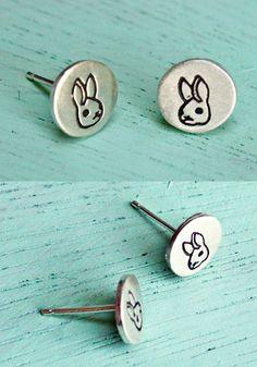 bunny earrings at http://shop.boygirlparty.com #bunny #rabbit #earrings