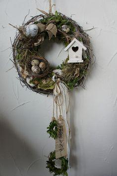 """Türkränze - Türkranz """" Frühling in der Vogelvilla....&... - ein Designerstück von Hoimeliges bei DaWanda"""
