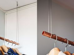 clothing rack copper pipe