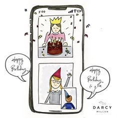 How to celebrate birthdays from far away May Birthday, Singing Happy Birthday, Birthday Celebration, Birthday Cards, Bullet Journal Month, Kids Class, Some Words, Paper Cards, Facetime