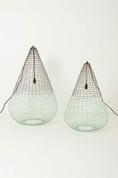 Woven Wire Pendant Lamp - anthropologie.com