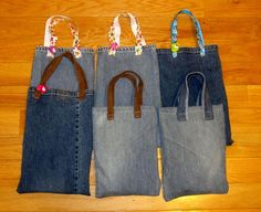 Purses Made From Jeans | Refashion Co-op: Men's jeans to Party loot bags