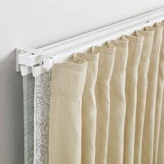 VIDGA Single and triple track set, white White Curtain Tracks, Ceiling Curtain Track, Ceiling Curtains, Curtain Rails, Cheap Curtains, Flexible Curtain Track, Hospital Curtains, Wave Curtains, Stainless Steel Panels