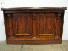 Panels for island? Salvaged Wood Bar Front/Shelf - Columbus Architectural Salvage