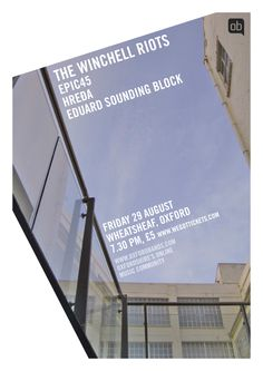The Winchell Riots and Epic45 - the last OxfordBands.com gig before we took a vacation.