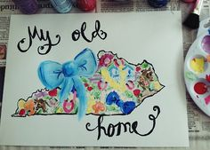My Old Kentucky Home painting. Lilly Pulitzer inspired print.