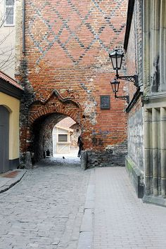 Old city wall, Old Riga - beautiful brick arch. #Latvia #Europe #Medieval