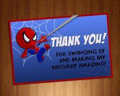 Thank you Amazing Spiderman Card by ArtsyFartsyMommy07 on Etsy