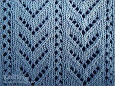Chevron Lace stitch pattern - http://www.knittingstitchpatterns.com/2014/10/chevron-lace-2.html