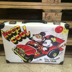 Vintage walt disney mickey and minnie mouse briefcase, bag  Very rare  #waltdisney #vintage #mickeymouse #minniemouse #briefcase #bag #rare #veryrare