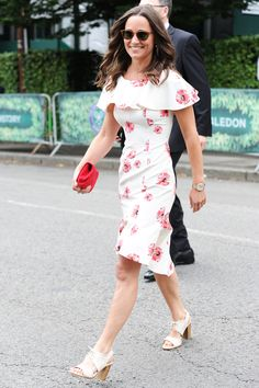 Pippa Middleton Rings in the Start of Wimbledon in the Perfect Summer Dress from InStyle.com