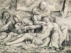 10 - Эрмитаж. Шедевры - 5 - Terra Incognita. Сайт Рэдрика  Карраччи, Аннибале - Оплакивание Капрарола