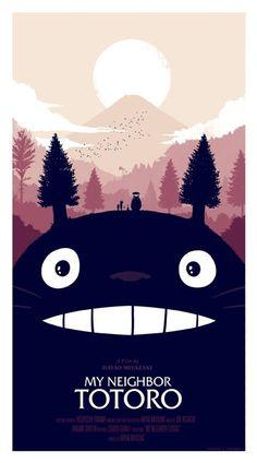 Pósters de Olly Moss del clásico de Miyazaki