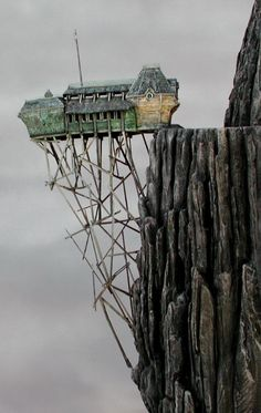 """Real(Mislabeled) -  This is a model by the art department of Aunt Josephine's house for """"Lemony Snicket's a series of unfortunate events"""""""