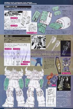Mobile Suit Gundam The Origin: Mechanical Archives - Image Gallery ガンダム The Origin, Robot Series, Japanese Robot, Gundam Mobile Suit, Gundam Art, Super Robot, Mechanical Design, Gundam Model, Designs To Draw