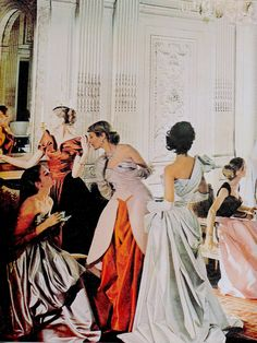 Stunning evening dresses by Charles James Photograped by CECIL BEATON 1948 (detail only of large horizonal photo) from Beaton in Vogue (minkshmink)