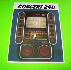 CONCERT 240 By NSM 1985 NOS ORIGINAL JUKEBOX PHONOGRAPH  PROMO SALES FLYER #JUKEBOXADVERTISING #NSMJUKEBOX #JUKEBOXPROMO