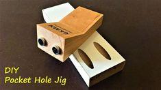 Making a Pocket Hole Jig under 5$ / Vida Yeri Açma Aparatı - YouTube Pocket Jig, Pocket Screws, Woodworking Jigsaw, Woodworking Garage, Youtube Woodworking, Diy Projects Plans, Woodworking Projects Diy, Wood Jig, Dowel Jig