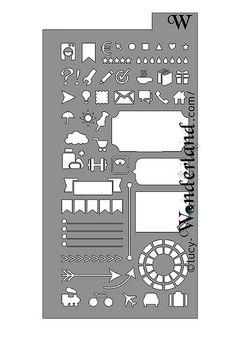 """Lucy-Wonderland: planner stencil! if you want the stencil in you planner, contact me by email, putting as object """"planner stencil"""", so I'll understand that it is not an advertisement mail to delete. My mail is lucy_wonderland (at) libero.it #planner #stencil #bulletjournal"""