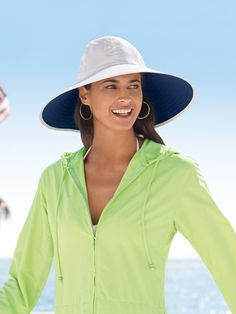 "Similar in style and identical in versatility and durability to our popular Wide Brim Crusher (#47200), this sun protective wonder made of Solumbra fabric could actually be called the Wider Brim Crusher. It has a generous 5"" brim, adjustable sweatband and chin strap. Hand wash. (Box Shipment Surcharge may apply. See Shipping ..."