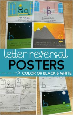 Do you have a learner reversing those tricky lowercase letters? These letter reversal posters are colorful and engaging and has a story that correlates to the shape of the letter. Includes b, d, q, & p. These alphabet posters are perfect to display in the classroom or shrink and give to each child to easy and quick reference! You can print these in color or black & white. Print Handwriting, Handwriting Practice, Handwriting Activities, Alphabet Activities, Primary Teaching, Teaching Resources, Teaching Ideas, Alphabet Posters, Reading Tutoring