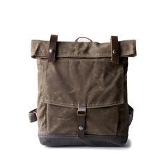 Backpack no.1 in Brown Wax by Moop