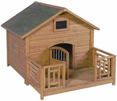 """Advantek """"The Lodge"""" Dog House - 21864.  48"""" TALL, 54"""" WIDE, 56"""" DEEP.   A Safe and Attractive Sanctuary for Your Pet and a Compliment to Any Property,""""ADVANTEK'S GONEGREEN Series of Dog Houses are built using strong lightweight FIR lumber. This item SHIPS FREE anywhere in the lower 48 contigious states."""