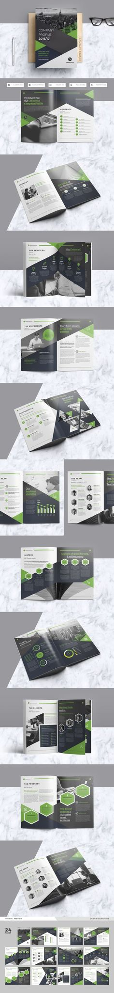 Company Profile Template InDesign INDD