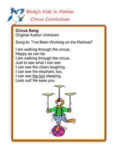 Circus Song #BirdysKids #ToddlerCreativeMovement