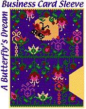 A Butterfly's Dream Business Card Sleeve by Lenni Cramer