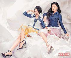 大S(右)和小S姊妹倆睽違多年,再度攜手拍時尚雜誌封面。