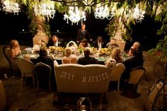 Great Idea use-Vintage Settee for head seating at wedding