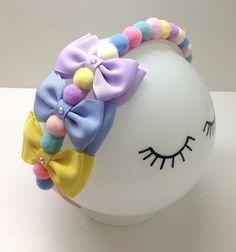 Making Hair Bows, Diy Hair Bows, Diy Bow, Fabric Flower Headbands, Fabric Flowers, Princess Hair Bows, Baby Girl Hair Accessories, Kanzashi Tutorial, Handmade Jewelry Box