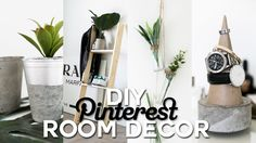 DIY Minimal room decor pieces that are perfect for Summer 2016. I created concrete decor which is super simple, easy and affordable. • Watch Nastazsa's video...