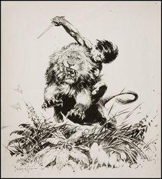Tarzan print. Frank Frazetta