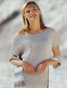 вязание для нафинающих: топ платочной вязкой