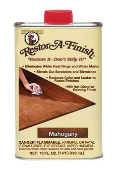 For a Quick & Nonexpensive Way to Restore Hardwood Floors {3-4 hours} // Howards Restor-A-Finish Cherry / Walnut / Mahogany