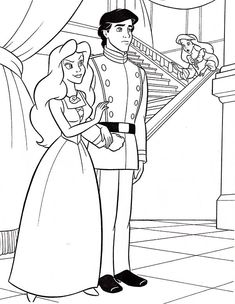 Ariel, Walt Disney Ariel and Prince Eric Coloring Page: Walt Disney Ariel And Prince Eric Coloring PageFull Size Image