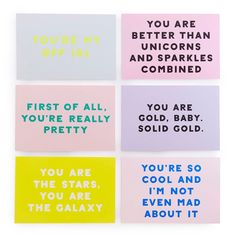 hey! you should totally send someone a compliment! our compliment postcard book lets you tell people how great they are in the most visually pleasing way possible. and yeah, you can totally frame thes