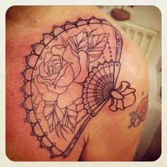Gypsy Old School Fan Tattoo