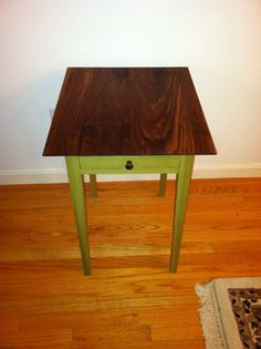 Painted End Table with Solid Wood Top by mdpfischer on Etsy, $150.00