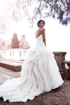 wedding dress I love this ... however there is a certain type of fabric I would like it to be made of.