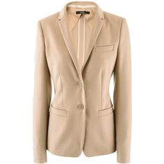 Windsor Beige Soft Virgin Wool Blazer found on Polyvore   #SoftAutumn #AutumnSummer #style #natural #classic