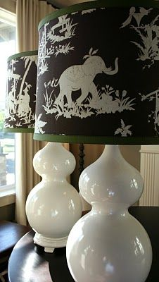 Lamp Shades Covered in Fabric