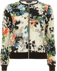 http://elle.shopstyle.com: Floral bomber jacket