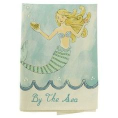 Mermaid Tea Towel Shimmering Sea  $11.95 www.MermaidHomeDecor.com
