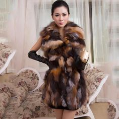 >> Click to Buy << Women Real Fox Fur Long Vest Fashion Ladies Winter Sleeveless Belt Design Thick Clothes Large Size Raccoon Fur Leather Jacket #Affiliate